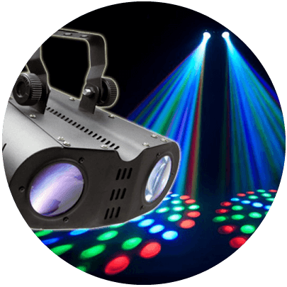 hire chauvet j-six moonflower effects light melbourne