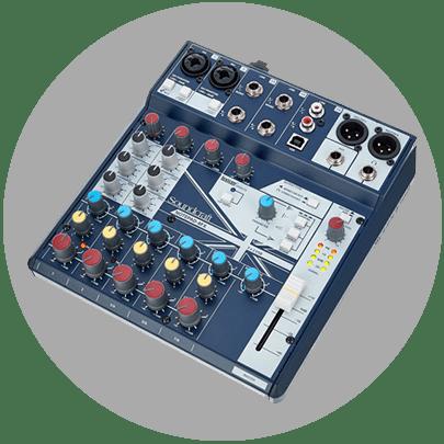 Soundcraft Notepad 8FX portable mixing desk Melbourne.fw