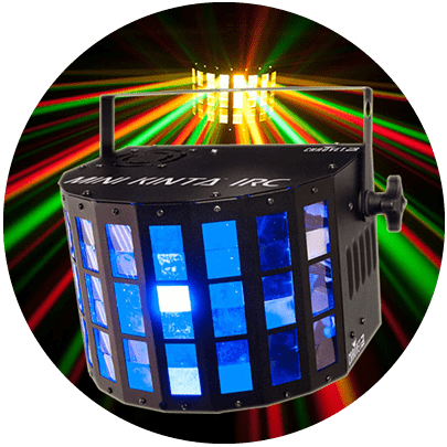 chauvet dj mini kinta irc effects light coloured beams Melbourne.fw