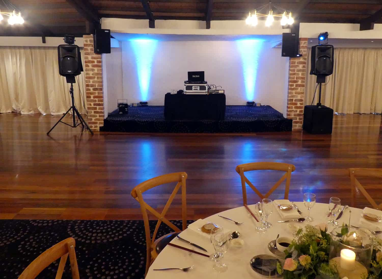 wedding dj melbourne setup potters receptions warrandyte