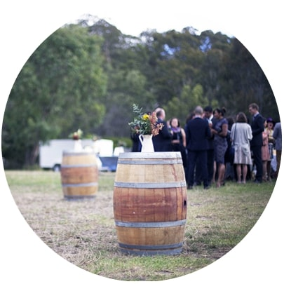 Collingwood childrens farm wedding ceremony at stables paddock