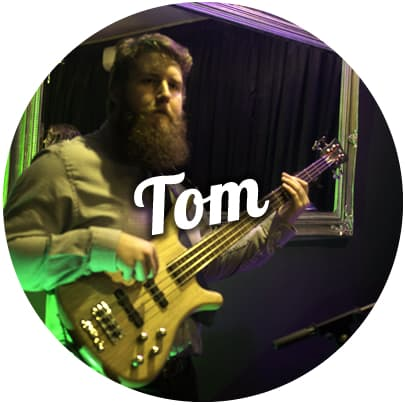 Tom Baker wedding band bassist melbourne corporate events