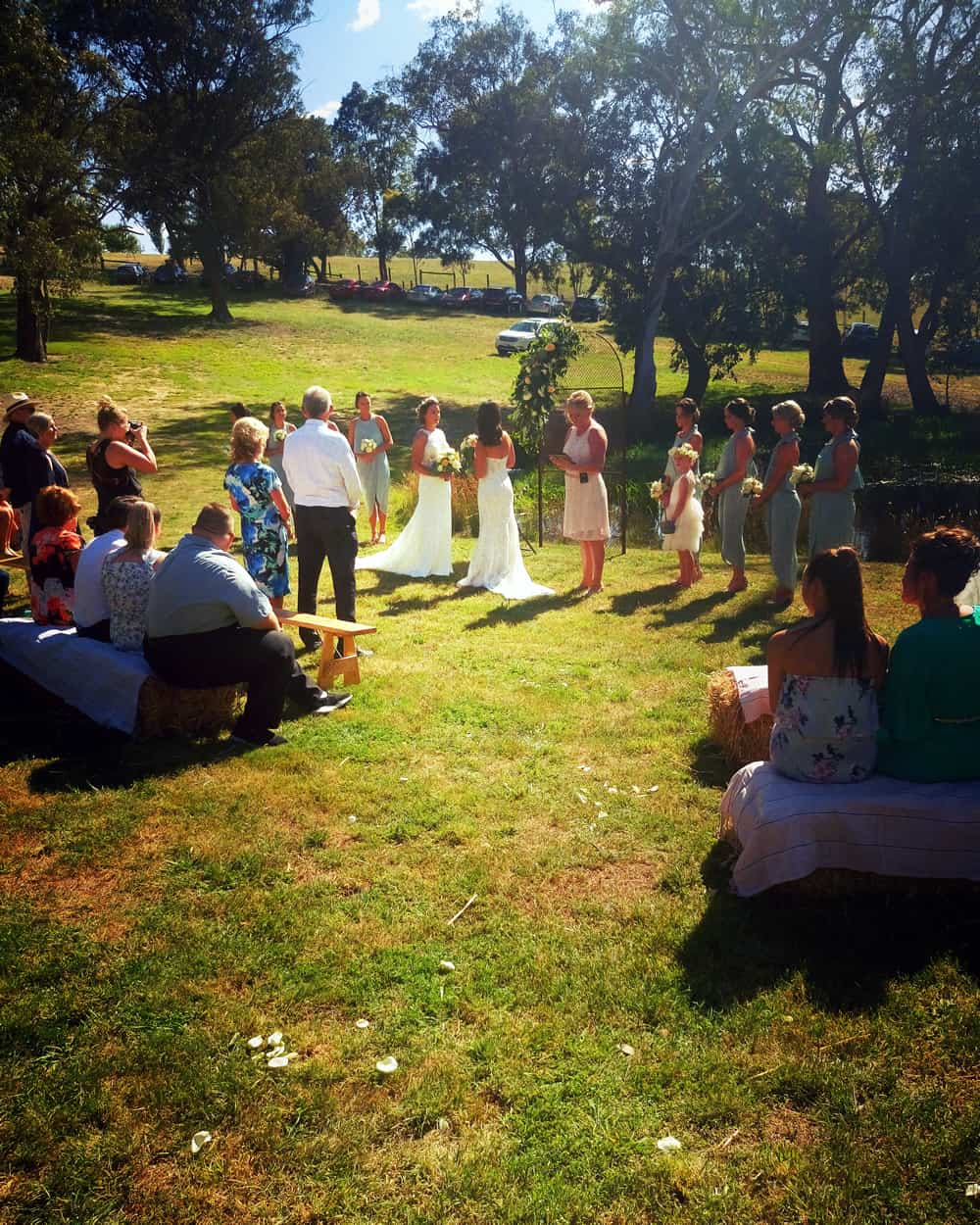 country wedding ceremony backyard brides melbourne