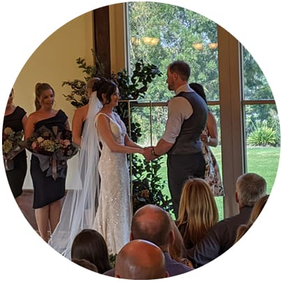 keryl and grant immerse yarra valley wedding ceremony singer