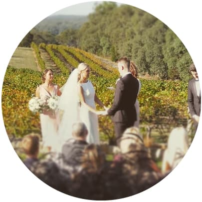 toms cap vineyard gippsland winery wedding ceremony reception