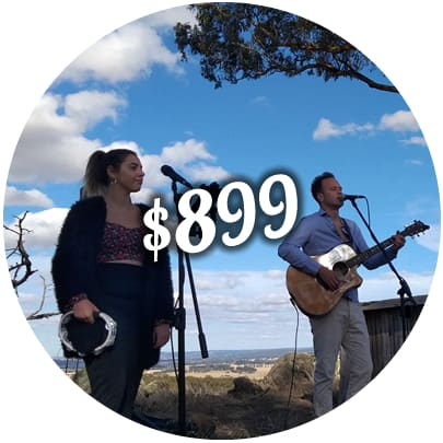 wedding package price acoustic duo melbourne ceremony