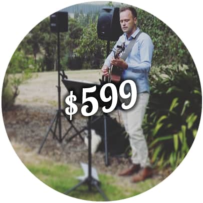 wedding package price ceremony solo singer acoustic guitarist melbourne