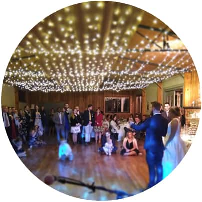 wedding reception log cabin ranch monbulk acoustic trio band