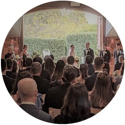 shiona and james yering station yarra glen wedding ceremony singer