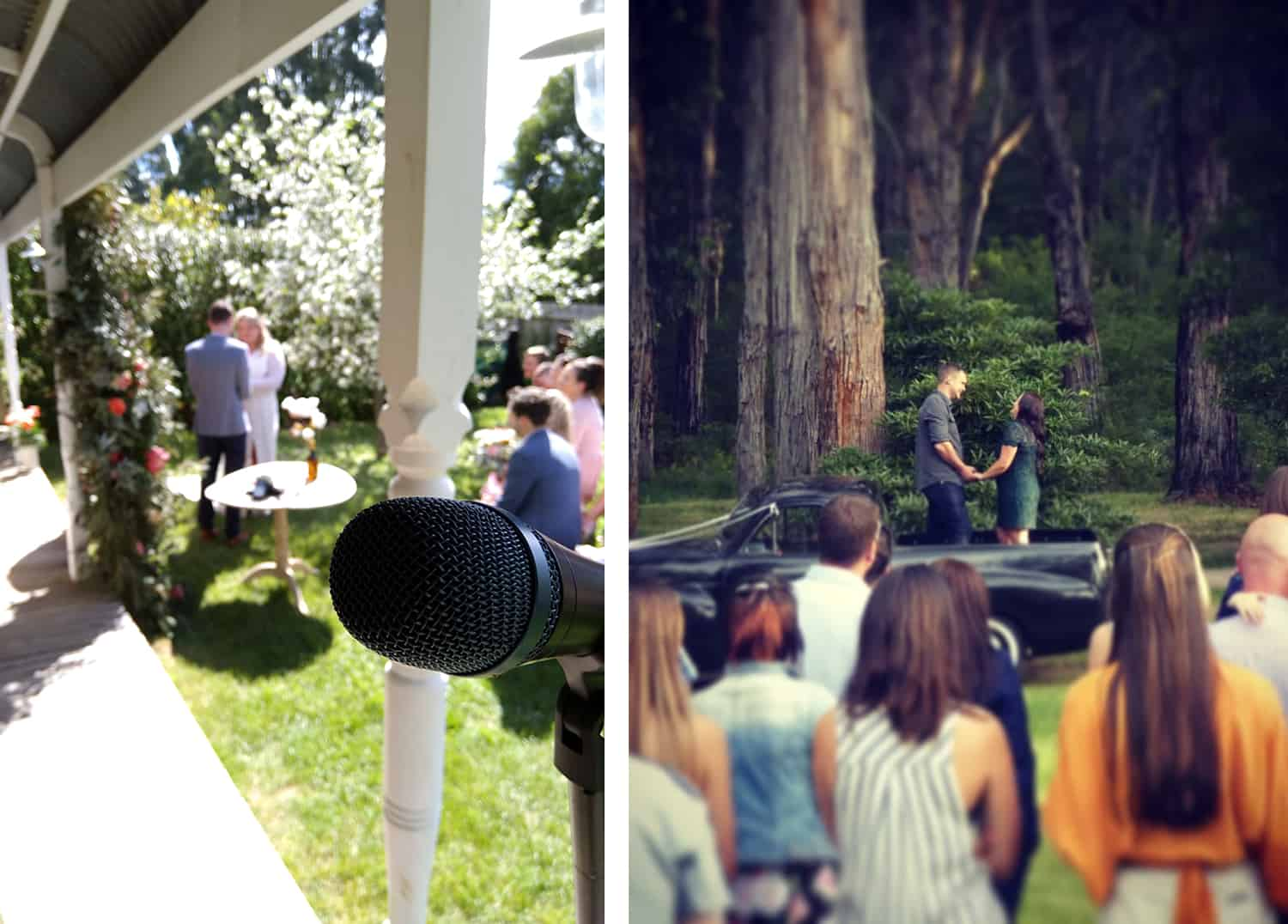 diy country wedding ceremony the estate trentham classic cars