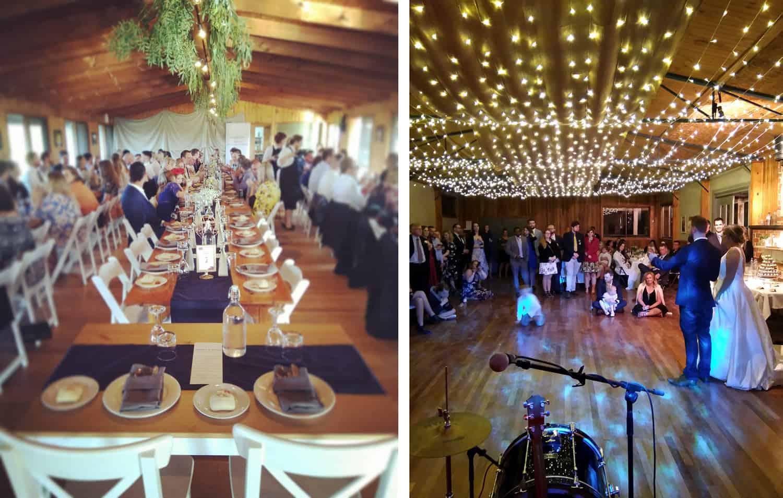 diy wedding reception log cabin ranch monbulk and kangaroobie princetown
